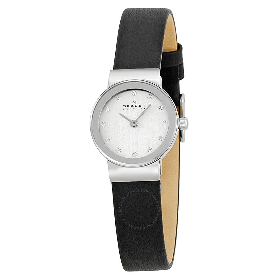 skagen watches jomashop skagen ultra slim chrome dial swarovski crystal ladies watch