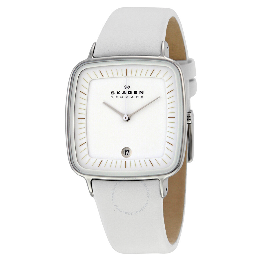 Skagen White Dial White Leather Ladies Watch Skw2013. Black Bangle Bracelets. Intertwined Necklace. Pearl Diamond Necklace. Tungsten Rings. Designer Men Bracelet. Baby Girl Pendant. Analogue Watches. Delicate Gold Bracelet
