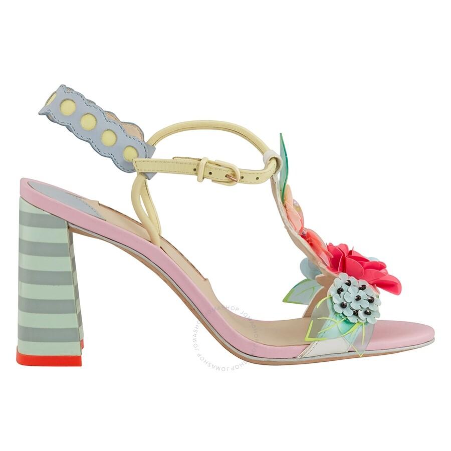a3d57b02da6 Sophia Webster Lilico Sequin-Leather Mid Sandals Item No. SOWSSM17055BL