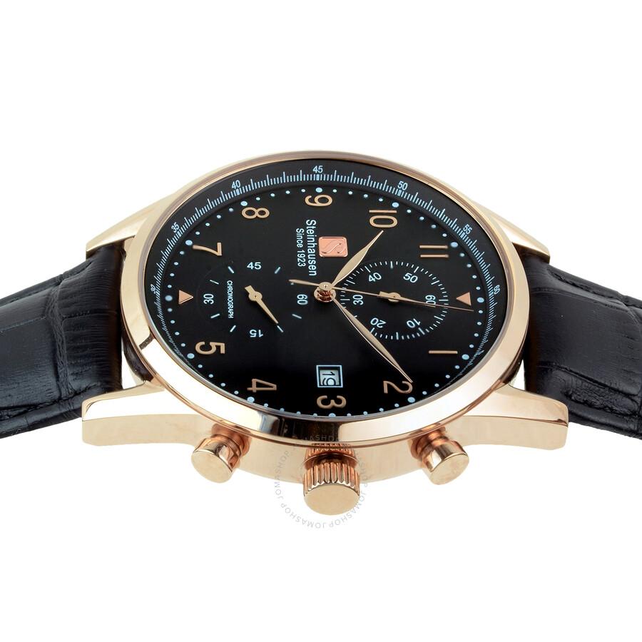 c2efecc40 Steinhausen Lugano Chronograph Black Dial Men s Watch S0919 ...