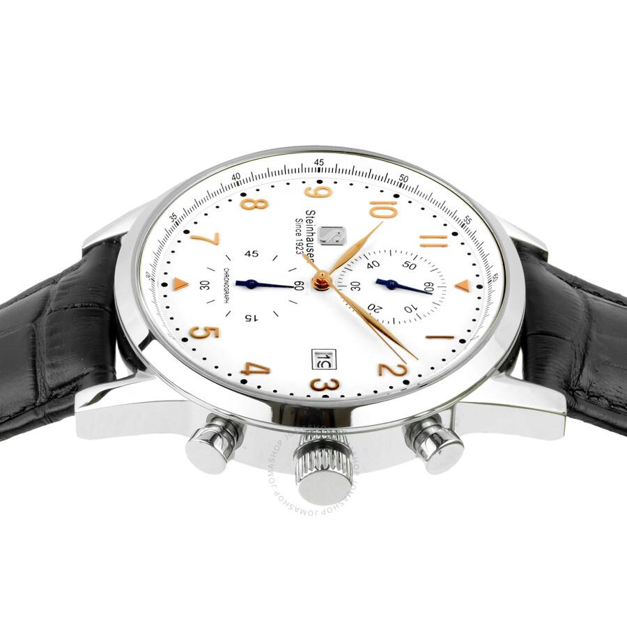 7a759177f Steinhausen Lugano Chronograph White Dial Men s Watch S0918 ...