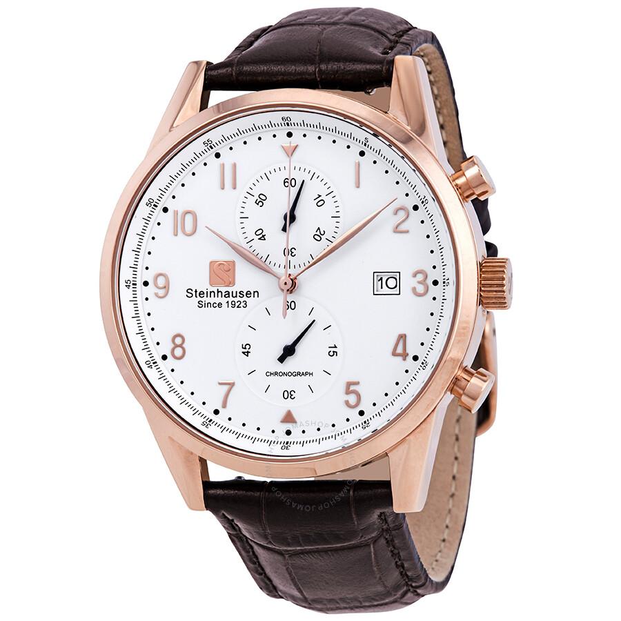 5fde44f9b Steinhausen Lugano Chronograph White Dial Men s Watch S0921 ...