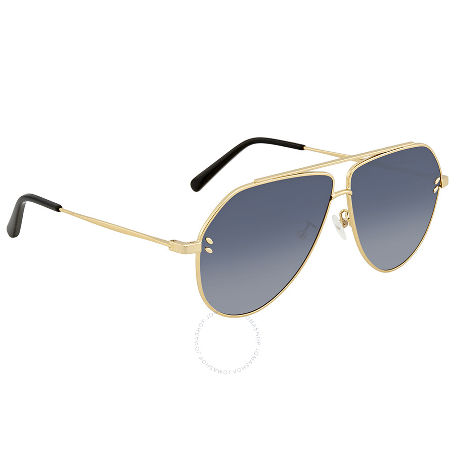 f3875ce8d6 Stella McCartney Smoke Blue Gradient Aviator Ladies Sunglasses SC0063SI 002  60 ...