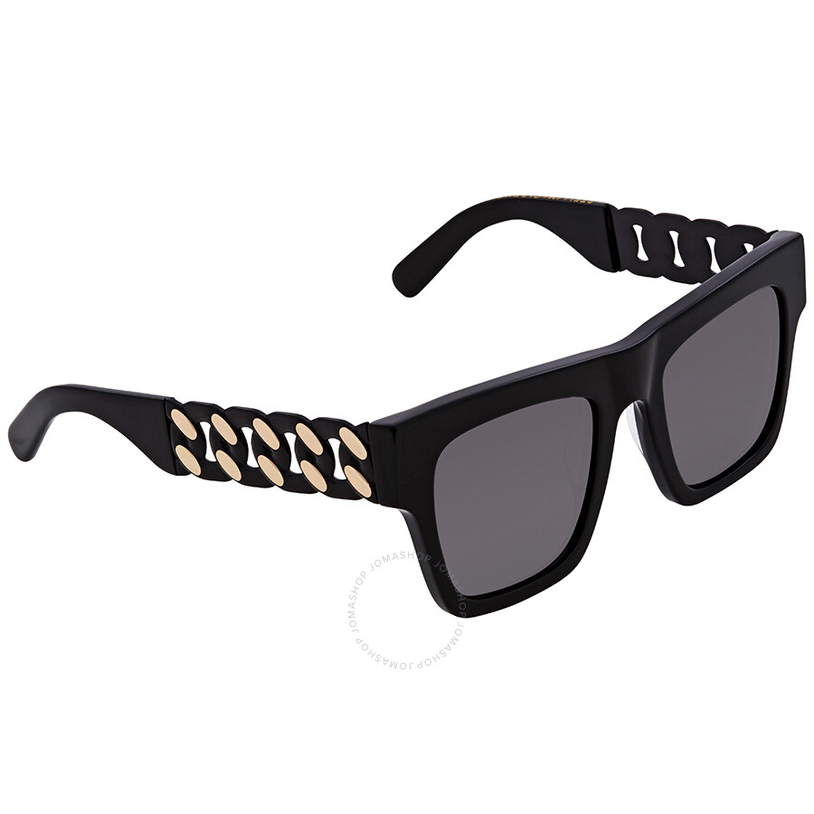 88eb9c13471f Stella McCartney Grey Rectangular Sunglasses SC0066S 001 51 - Stella ...