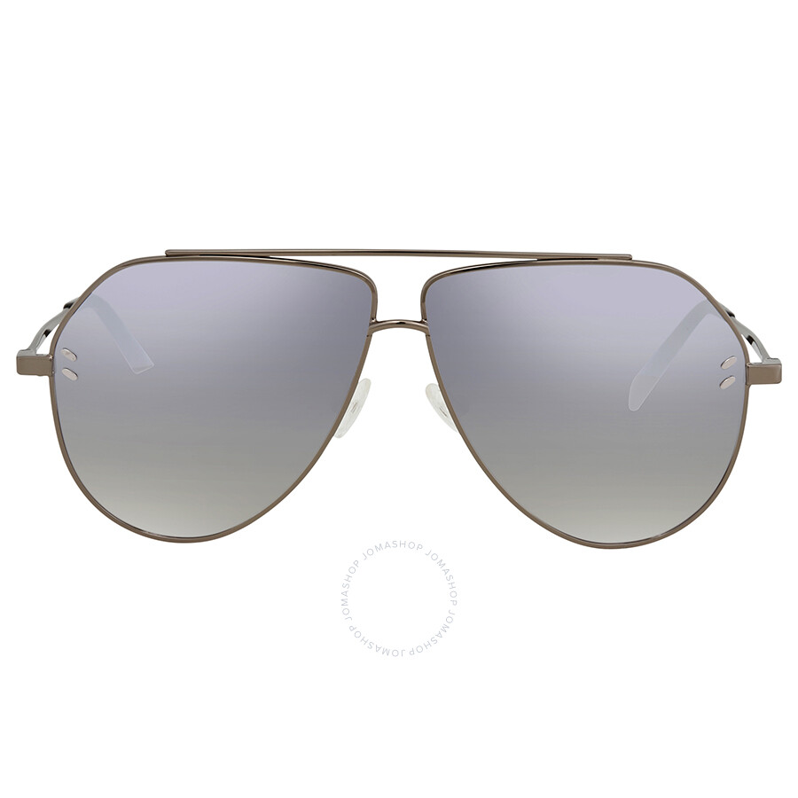 ecf4267b62d50 ... Stella McCartney Silver Mirror Aviator Sunglasses SC0063SI 003 60 ...
