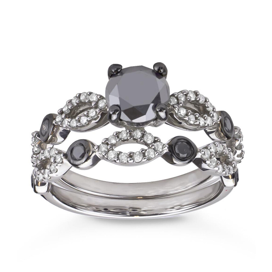 Hetal Diamonds Sterling Silver 1 1 2cttw Tdw Black And