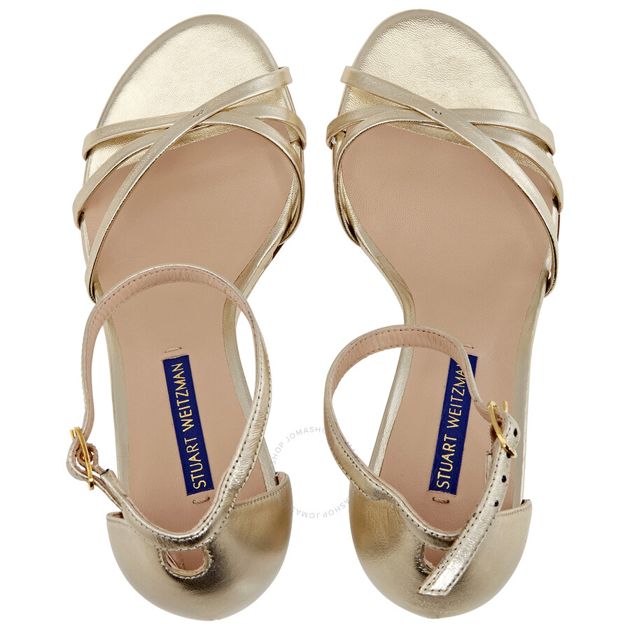 Stuart Weitzman perrine Faux Pearl Strappy Suede Sandals
