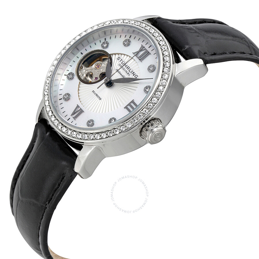 Stuhrling original stuhrling original white mother of pearl dial ladies watch stuhrling for Mother of pearl dial watch