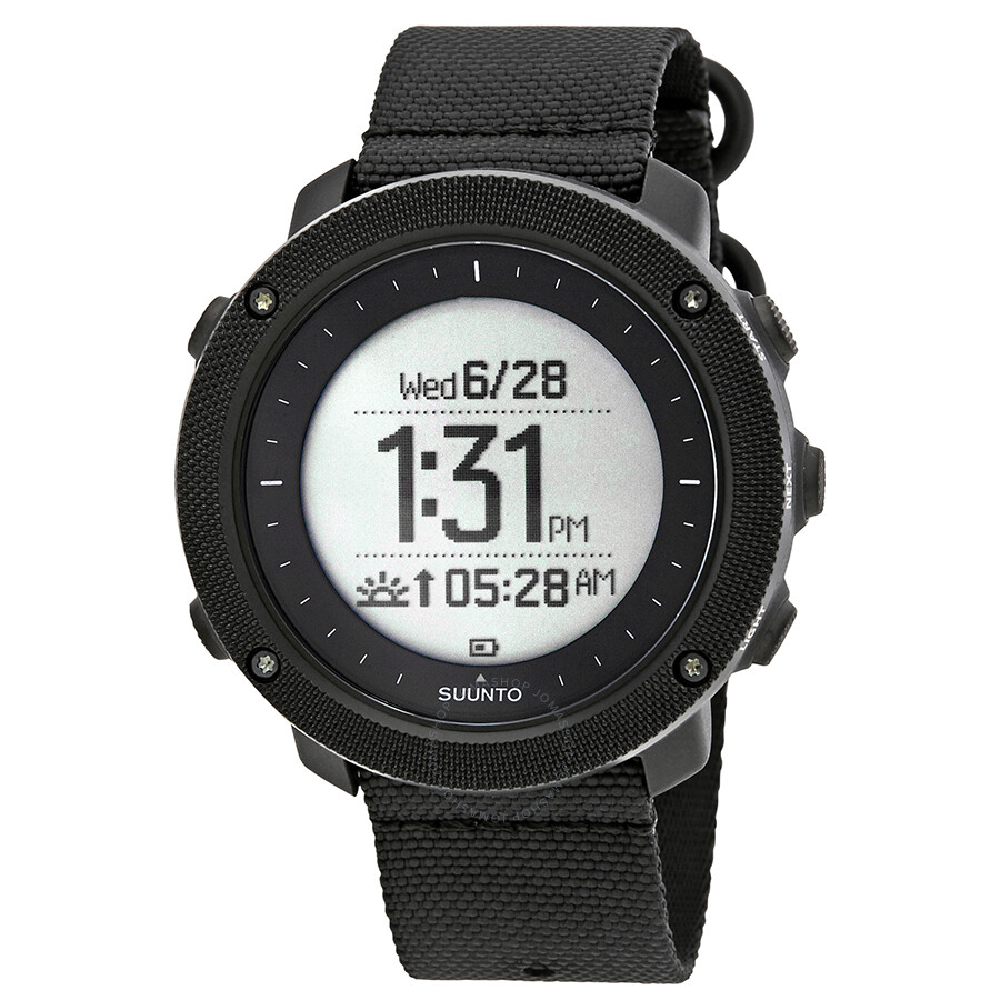 Suunto Traverse Alpha Stealth Men's GPS Fishing and Hunting Watch