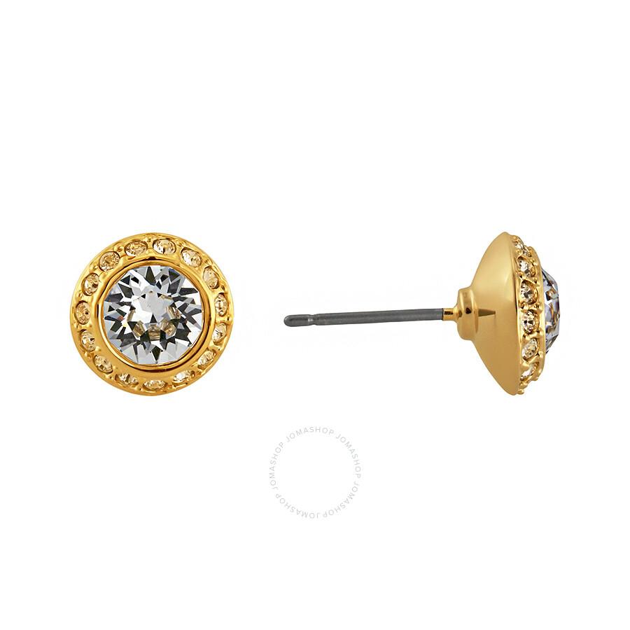 Swarovski Angelic Gold Plated Pierced Earrings 1081941