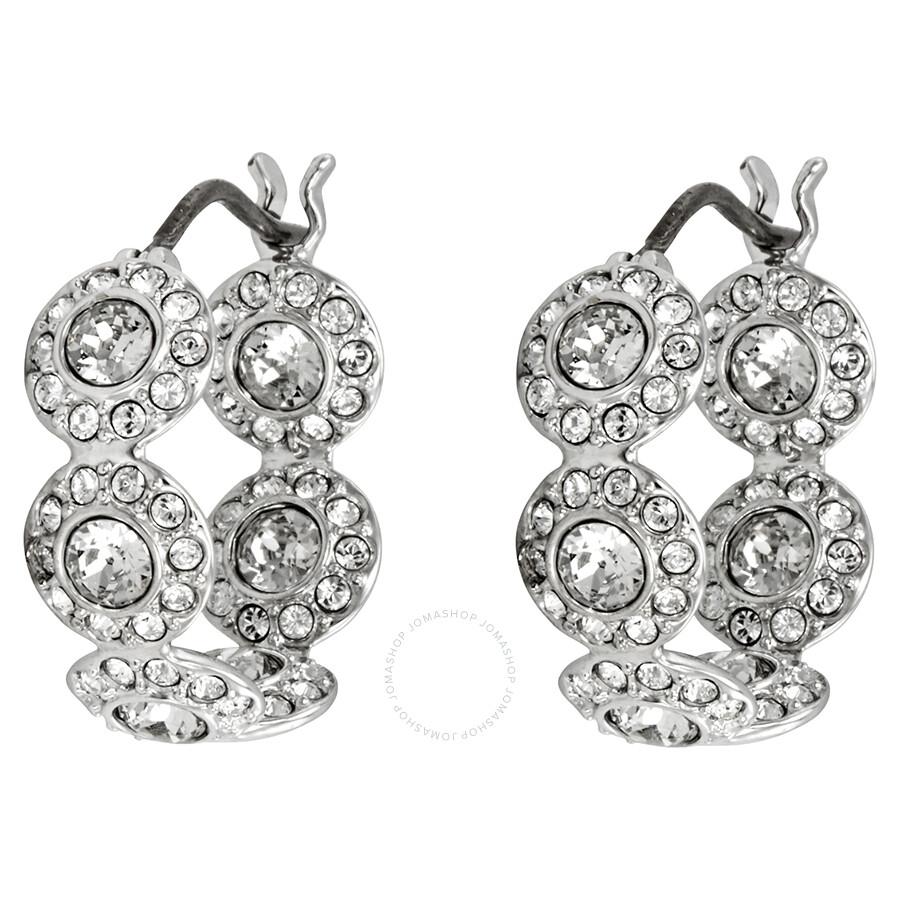 67c5e0907 Swarovski Angelic Rhodium Plated Mini Hoop Earrings Item No. 5418269