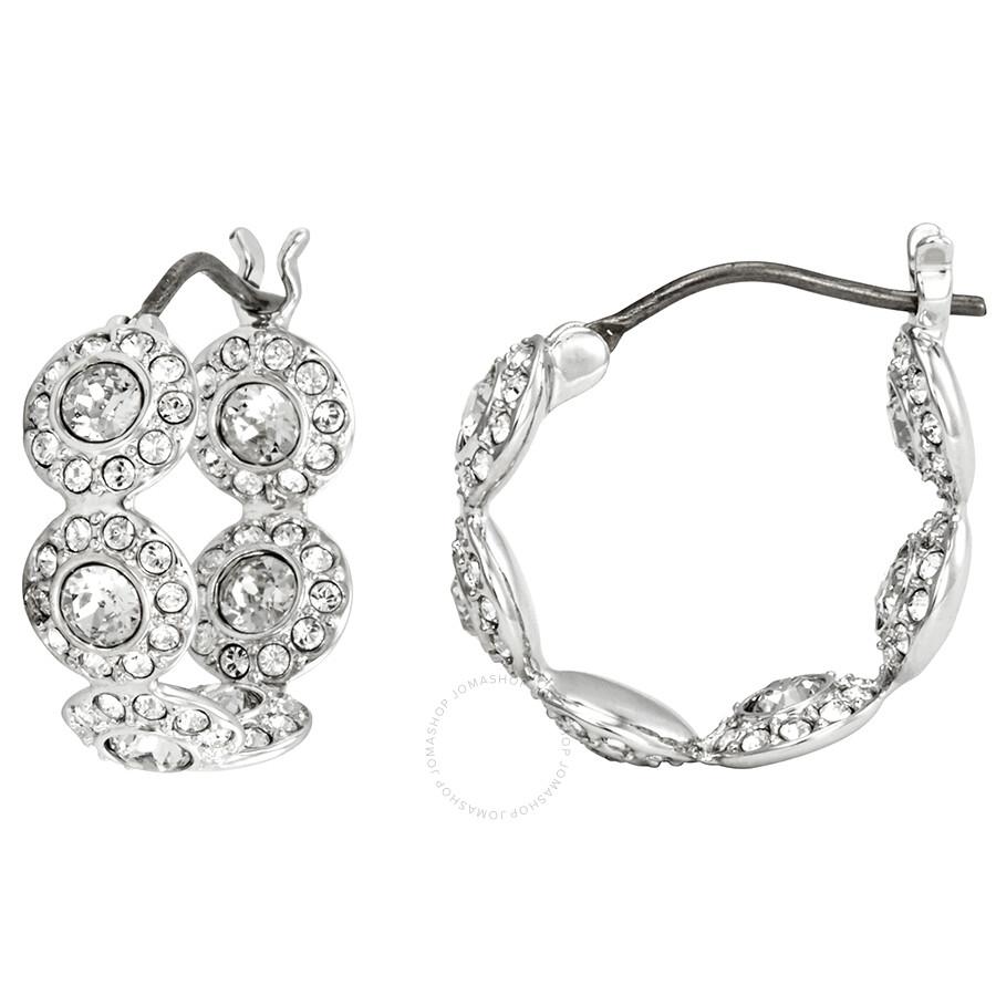 9002cd17e Swarovski Angelic Rhodium Plated Mini Hoop Earrings Swarovski Angelic  Rhodium Plated Mini Hoop Earrings