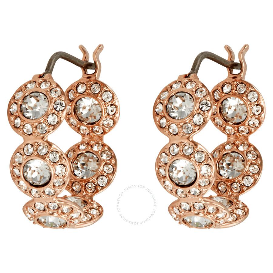 829553b7fec75 Swarovski Angelic Rose Gold Plated Mini Hoop Earrings
