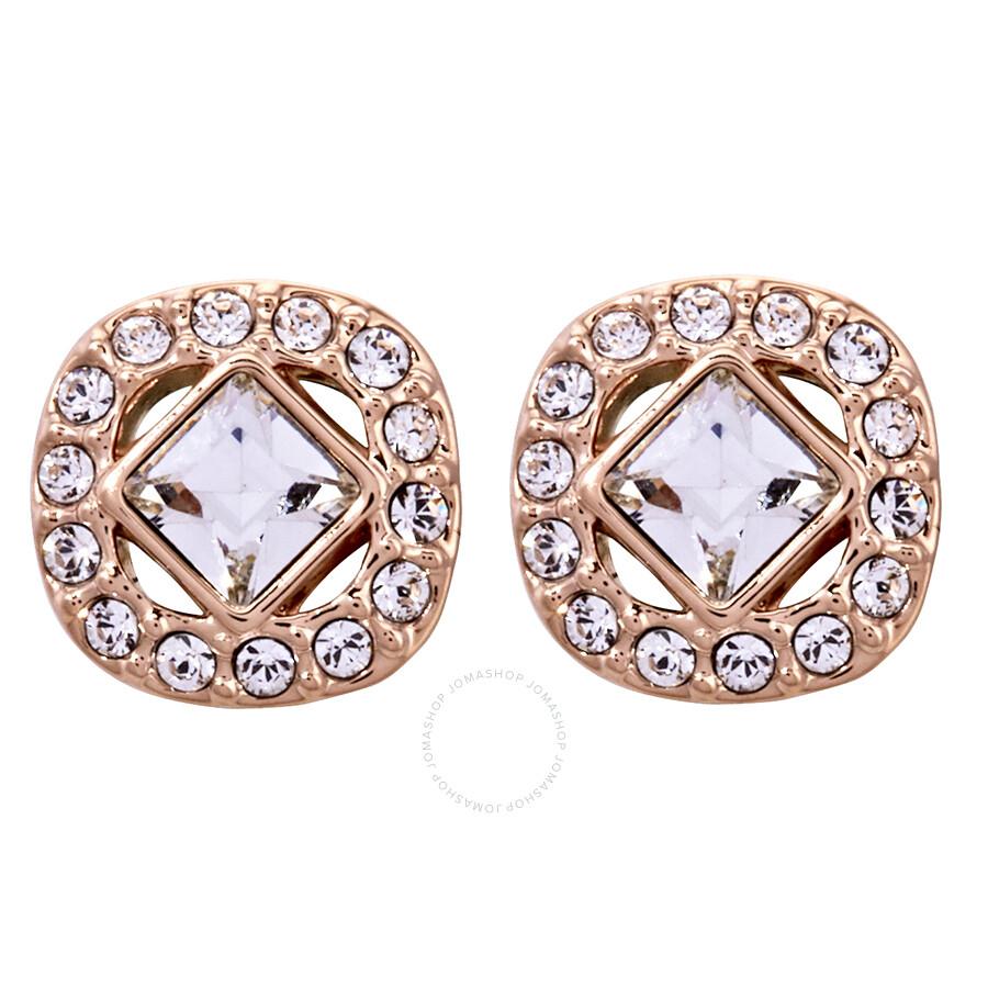 589c505b4 Swarovski Angelic Rose Gold Square Earrings - Swarovski - Ladies ...