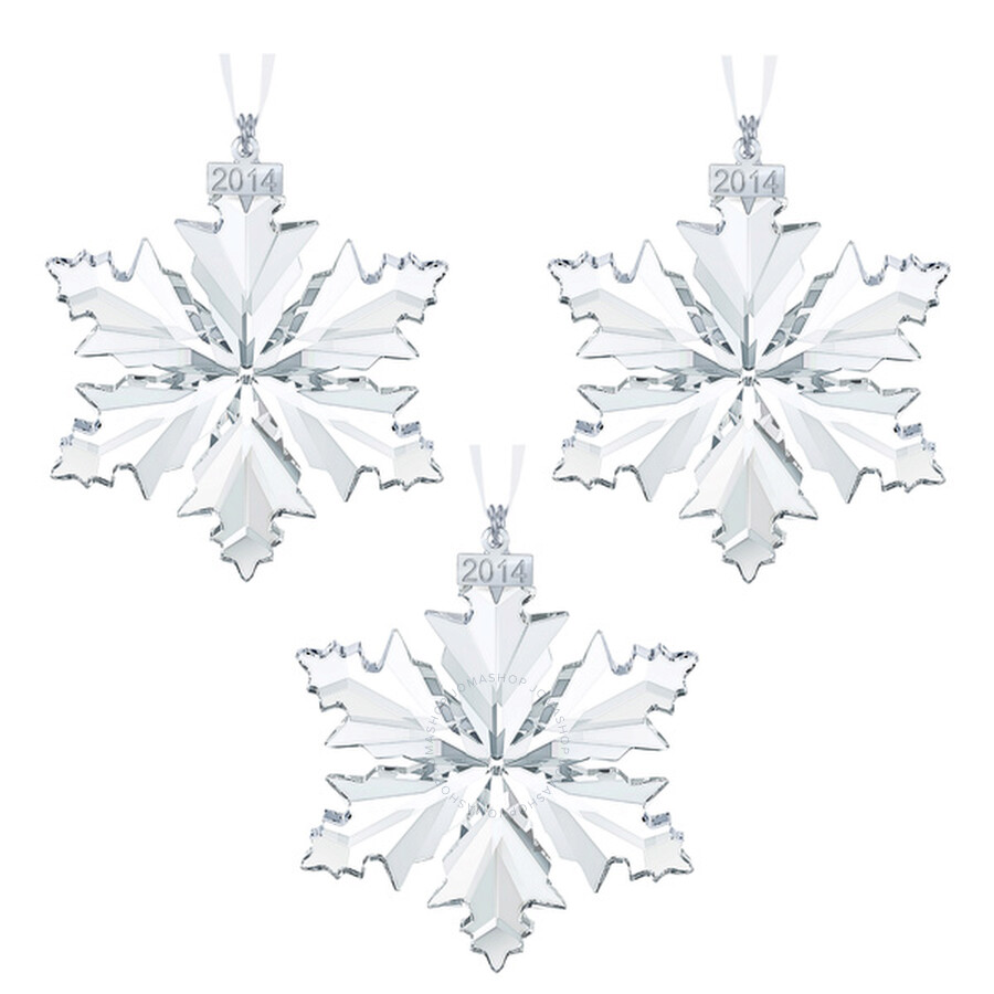 Swarovski Annual Edition 2014 Crystal Snowflake Ornament Set Of Three Item  No. 5059026-3 8f55b2155f