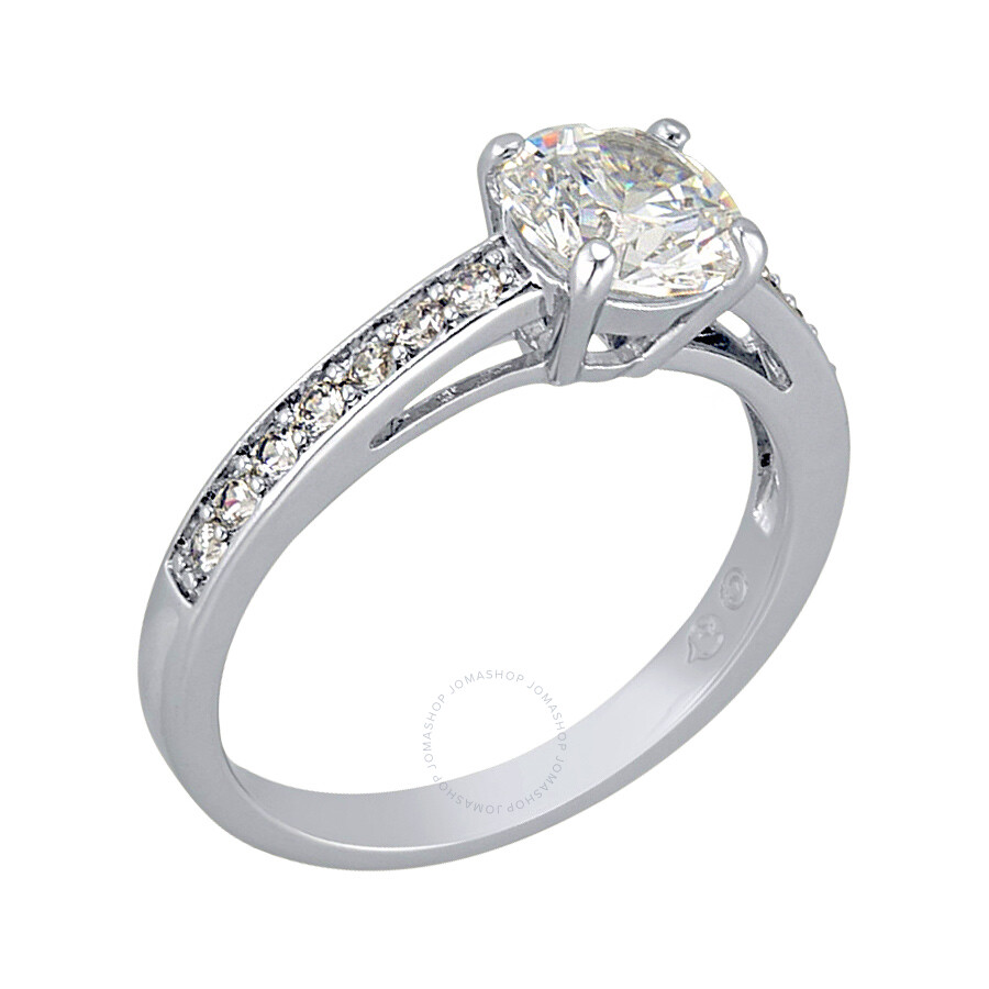 Swarovski Attract Round Silver-Tone Ring Size 6 5032920 - Swarovski ... e30abffd0b
