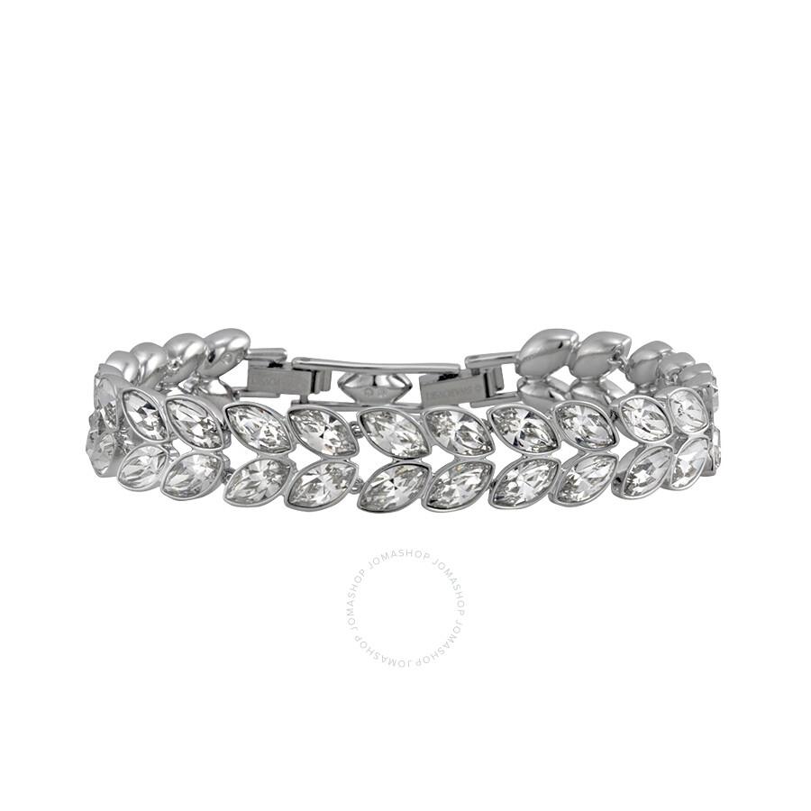Swarovski Azalea Silver Tone Crystal Navette Bracelet 5032935