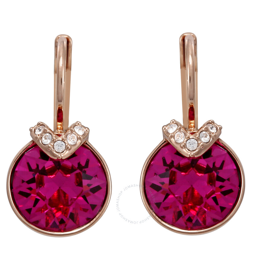 Swarovski Bella V Pierced Fuchsia Earrings