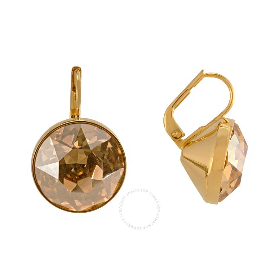 5dfb8d3fde20fa Swarovski Bella Golden Shadow Pierced Earrings 901640 Swarovski Bella  Golden Shadow Pierced Earrings 901640