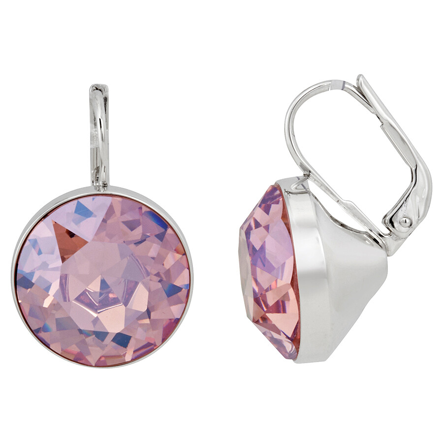 Swarovski Bella Pierced Light Rose Moonlight Crystal Earrings