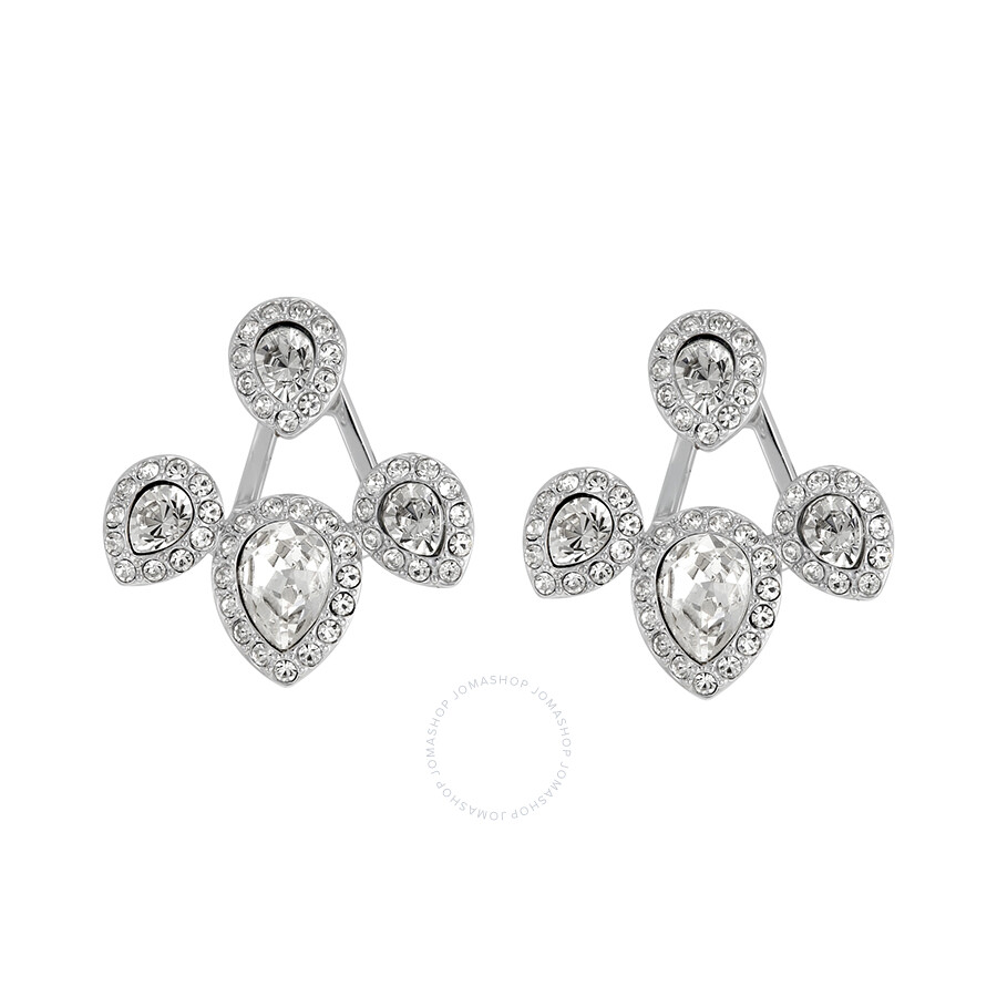 Swarovski christie pierced earrings with jackets 5123883 for Jh jewelry guarantee 2 years