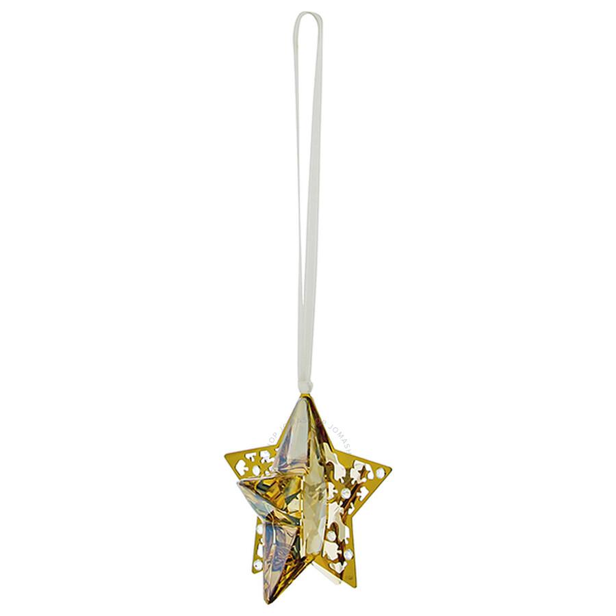 Swarovski Christmas Ornament Golden Shadow Crystal Star 1140008