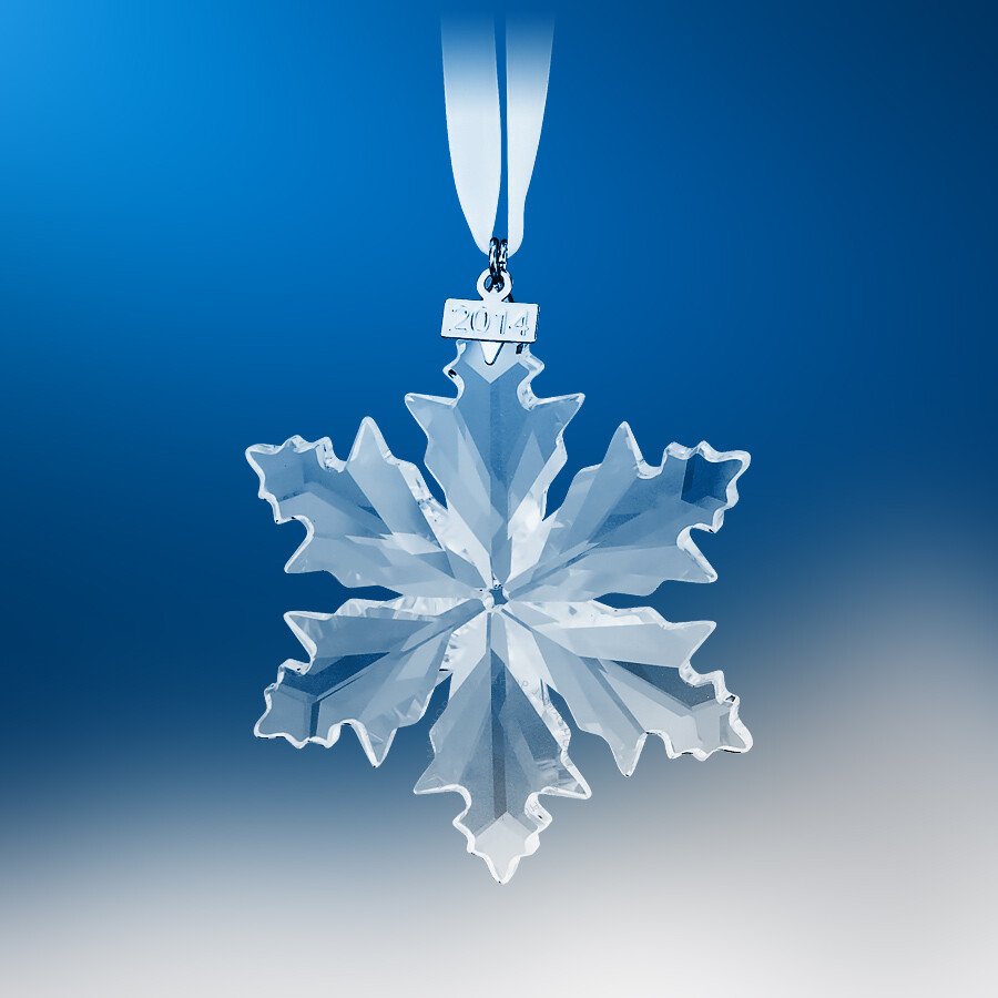 Christmas snowflake ornaments -  Swarovski Christmas Snowflake 2014 Annual Edition Ornament 5059026