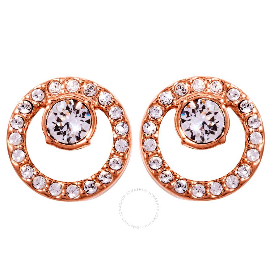 40953d304b988 Swarovski Creativity Circle Pierced Earrings