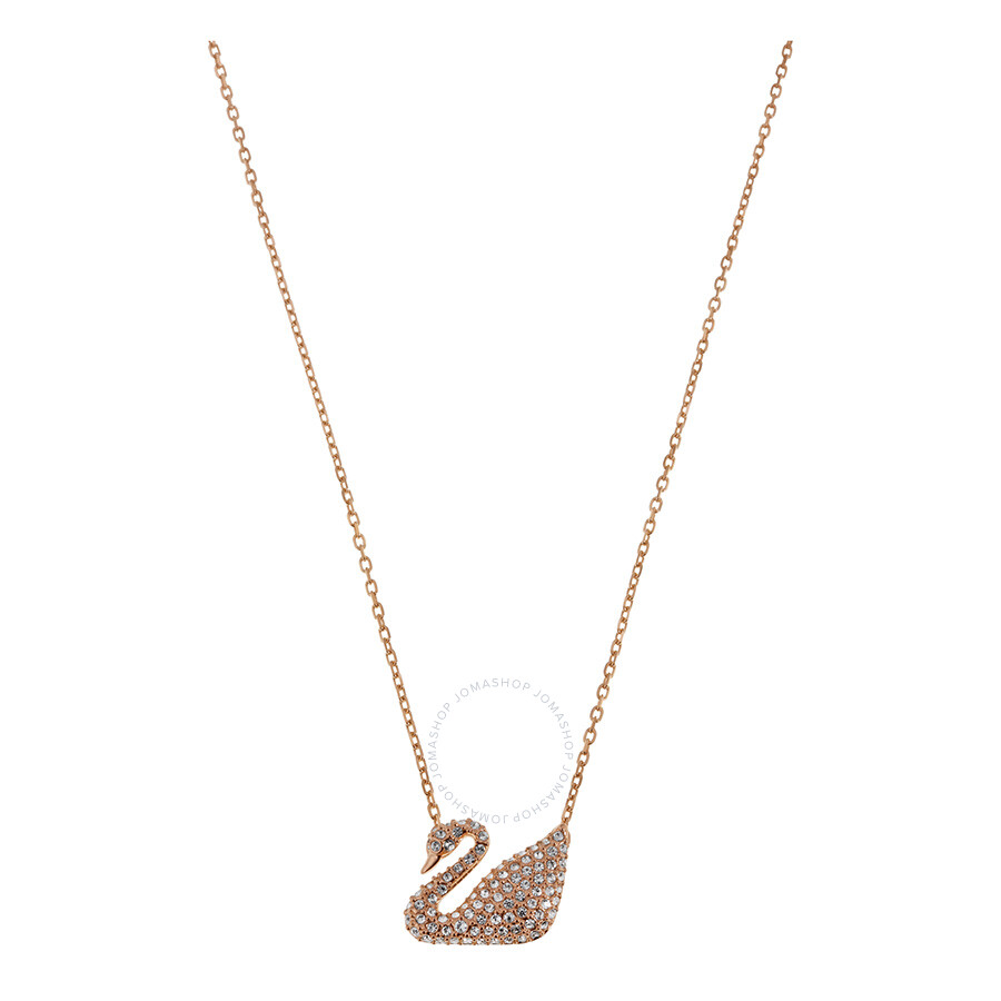 Swarovski Crystal Pave Swan Necklace ...