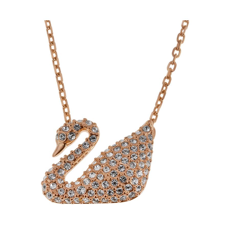 b6bbb28dabec Swarovski Crystal Pave Swan Necklace Swarovski Crystal Pave Swan Necklace  ...