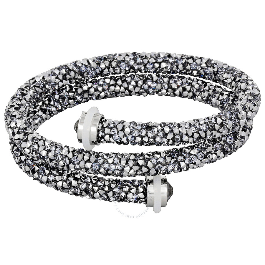 19b87a32c478 Swarovski Crystaldust M Bangle Double Gray 5237762 - Swarovski ...