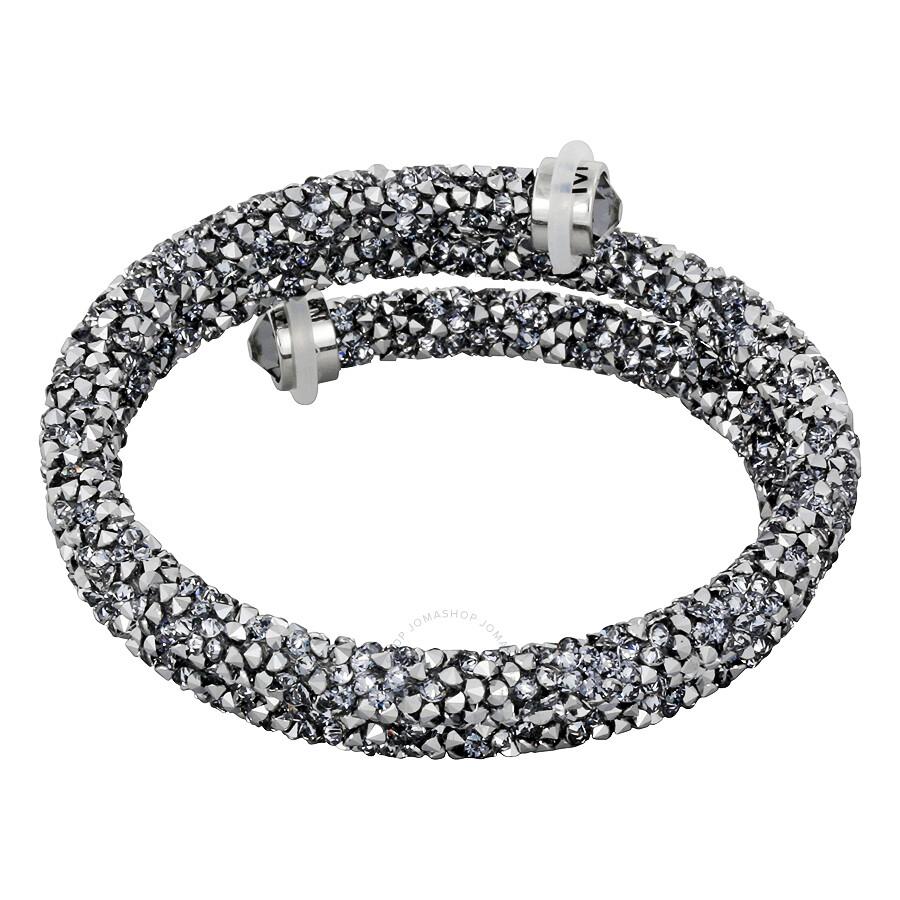 c9063439a67d Swarovski Crystaldust M Bangle Double Gray 5237762 Swarovski Crystaldust M Bangle  Double Gray 5237762