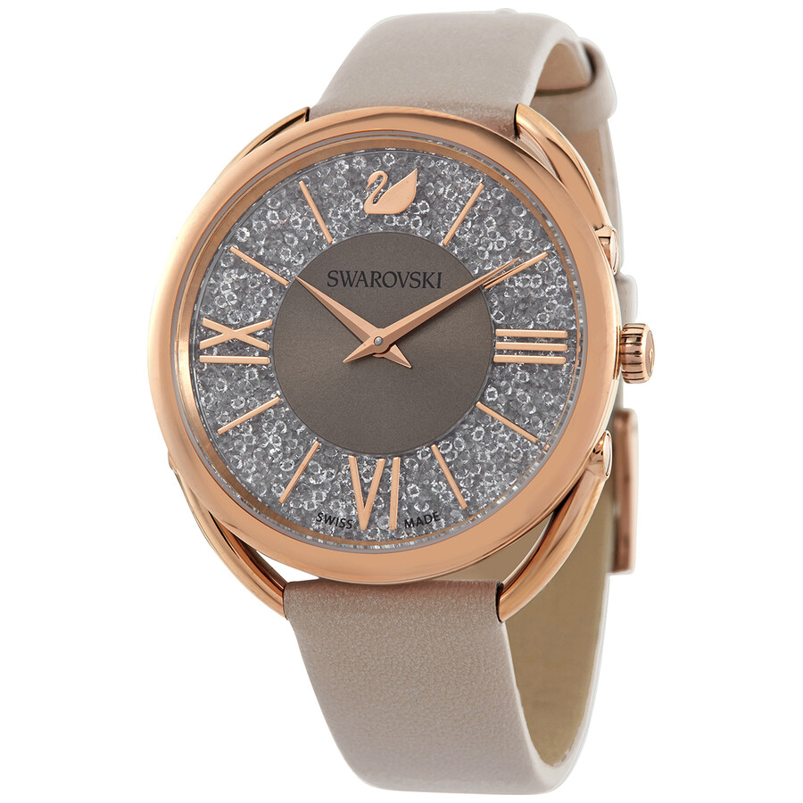 Swarovski Crystalline Glam Quartz Grey Dial Ladies Watch 5452455 5452455 Watches Swarovski Jomashop