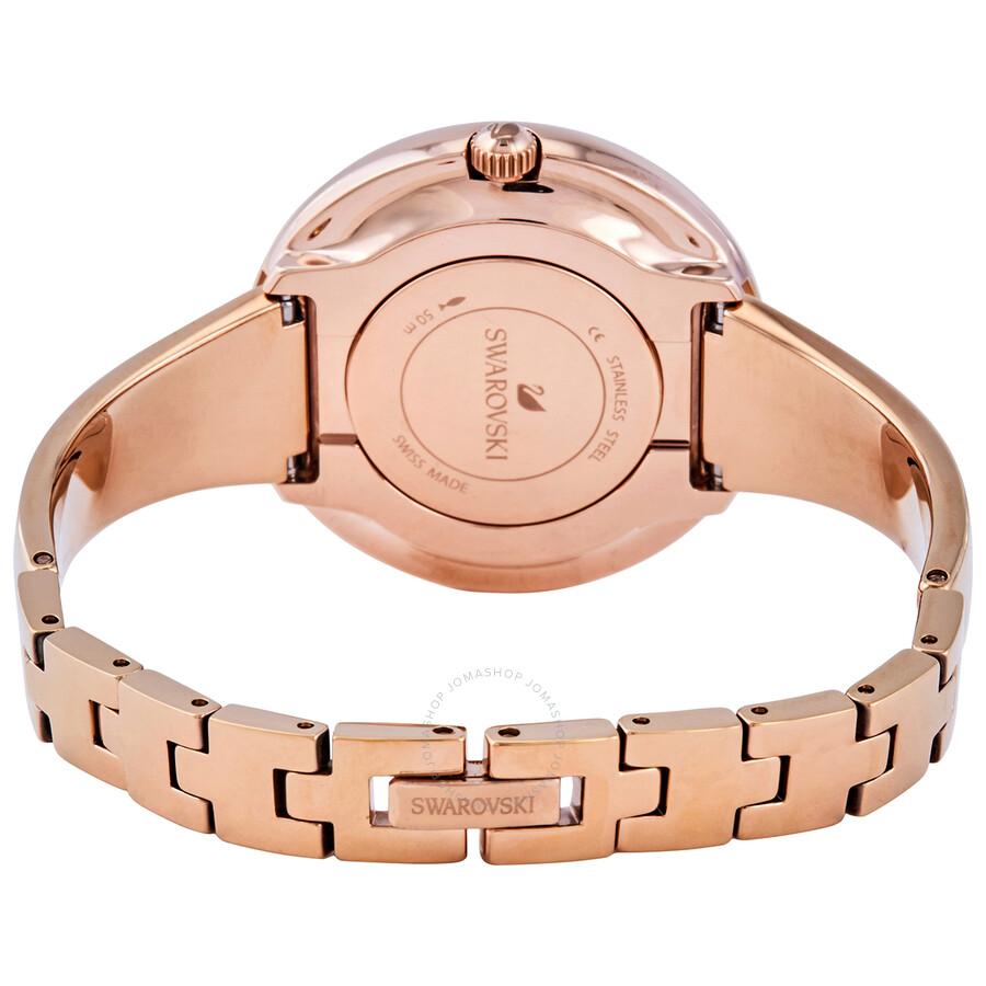 Swarovski Crystalline Pure Quartz Black Dial Ladies Watch 5295334 5295334 Watches Swarovski Jomashop