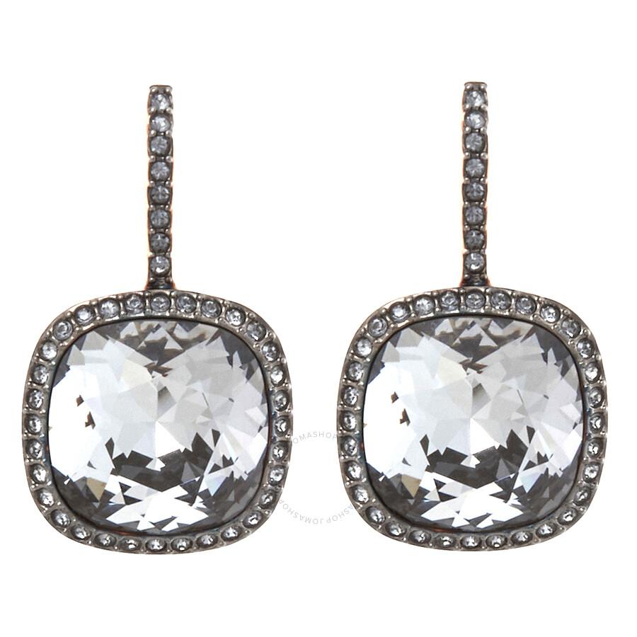 Swarovski Dark Grey Latude Pierced Earrings