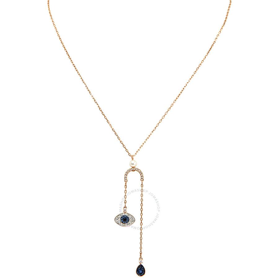 Swarovski Duo Rose Gold Plated Evil Eye Necklace Item No. 5425861 f9e93192017a