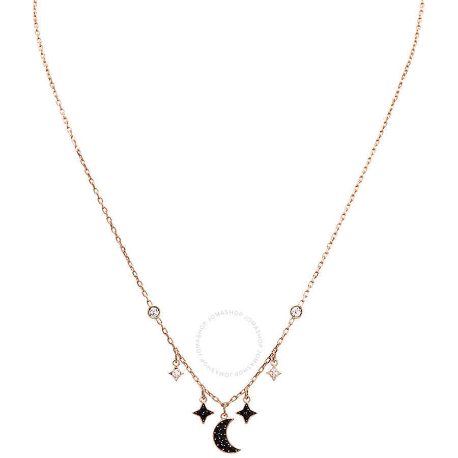 a2d0983486720 Swarovski Duo Rose Gold Plated Moon and Stars Necklaces