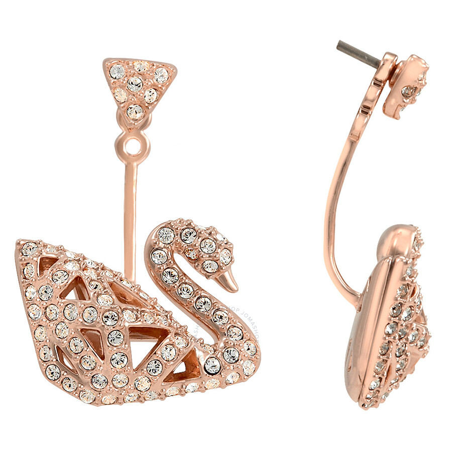 Swarovski Facet Swan Crystals Pave Earrings Swarovski Facet Swan Crystals Pave  Earrings 4d36f199b9