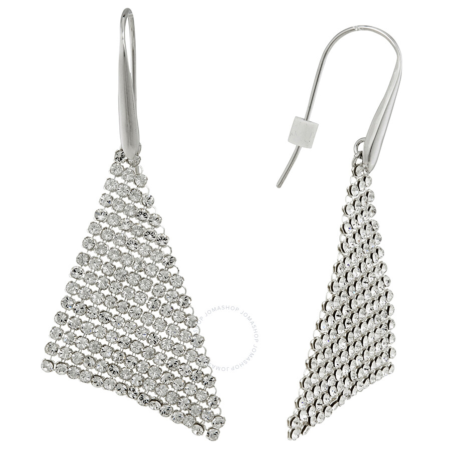 Swarovski Fit Rhodium Plated Earrings