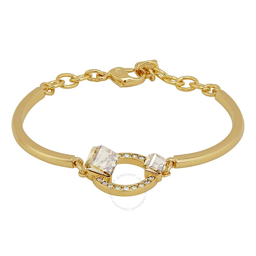 Swarovski Gold Plated Geometric Bangle
