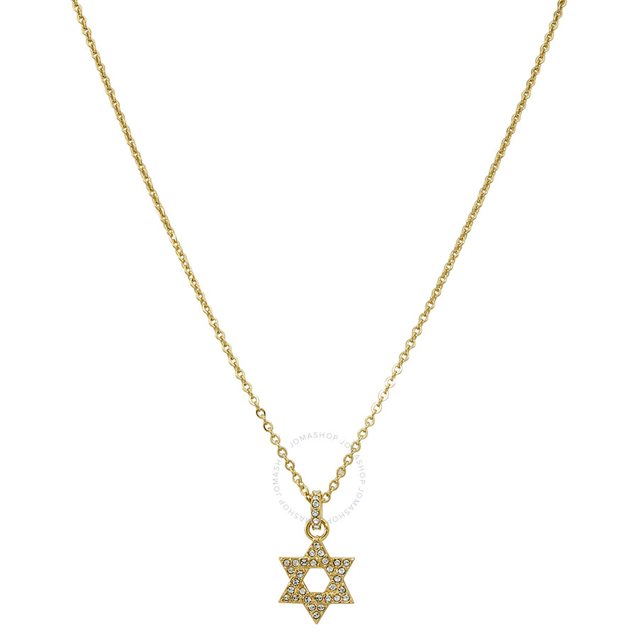41e05f613e376 Swarovski Gold-Plated Star of David Necklace 5413412