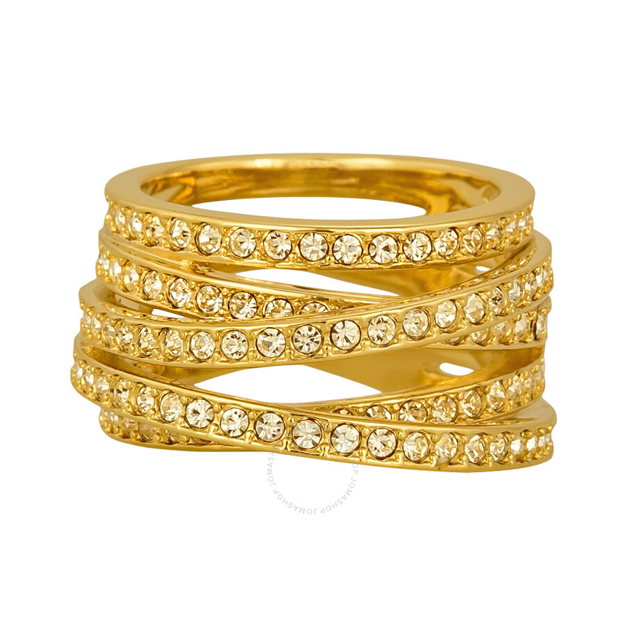 6987cba8367f1 Swarovski Gold-Plated Spiral Ring 5032927