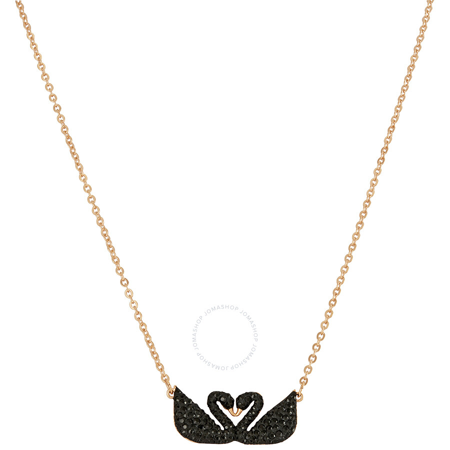 Swarovski Iconic Swan Double Necklace - Black - 5296468 - Swarovski ... ea5d437780