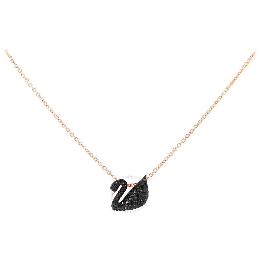 【新风尚】Swarovski/施华洛世奇经典天鹅项链小大号黑天鹅渐变银色锁骨链