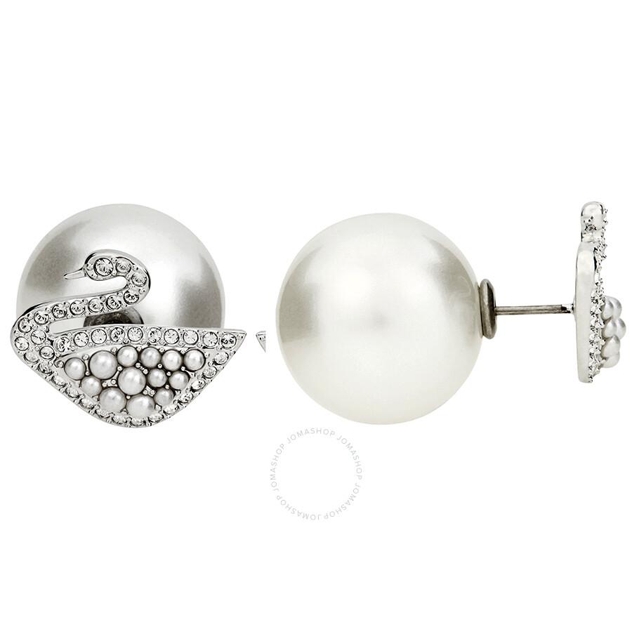 6f5625a93 Swarovski Iconic Swan Stud Pierced Earrings - Swarovski - Ladies ...