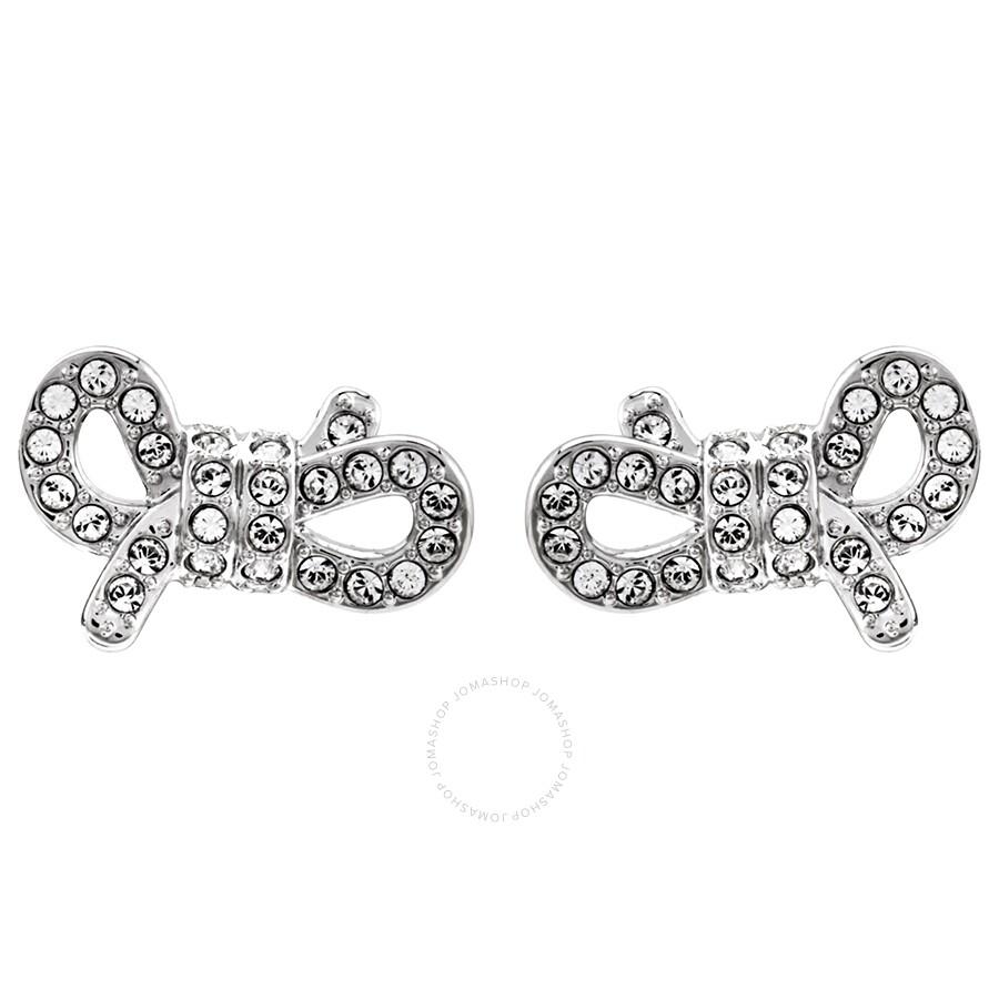 Swarovski Lifelong Bow Pierced Earrings