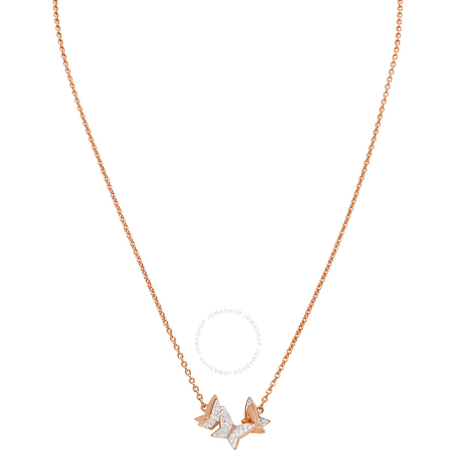Swarovski Lilia Rose Gold Butterfly Necklace - Swarovski - Ladies ... 099de9d2f0