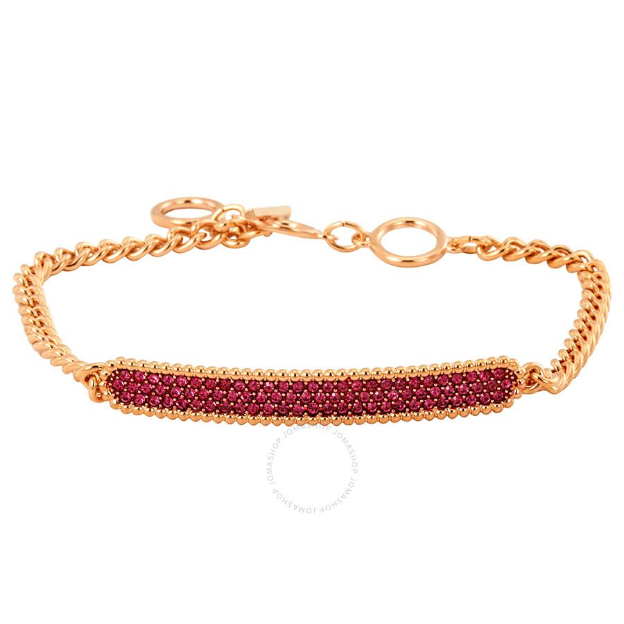 Swarovski Locket Bracelet Pink Rose Gold Plating Bracelet- Size Medium  5390255