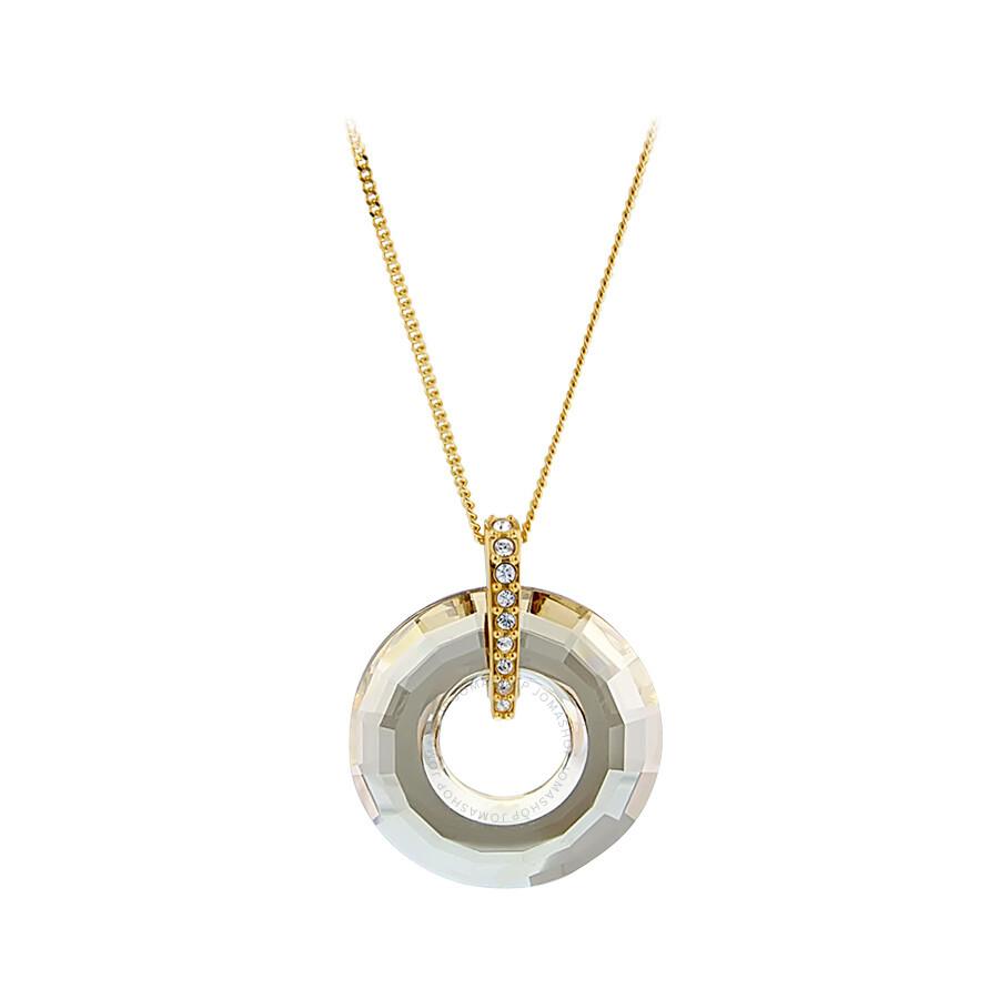 swarovski loop pendant necklace 1035243 swarovski