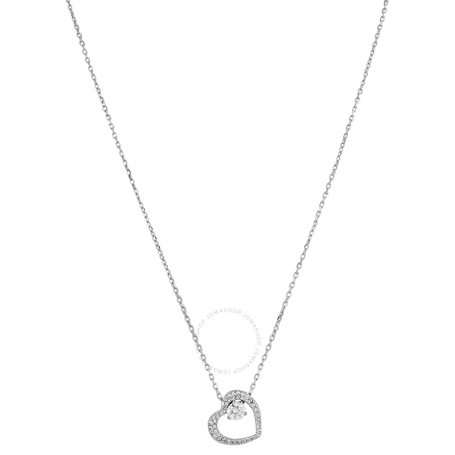 ac8ce9e79 Swarovski Love Rhodium-Plated Heart Necklace - Swarovski - Ladies ...